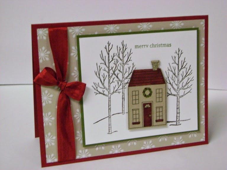 Новогодние открытки с домиками своими руками, иллюстраторе