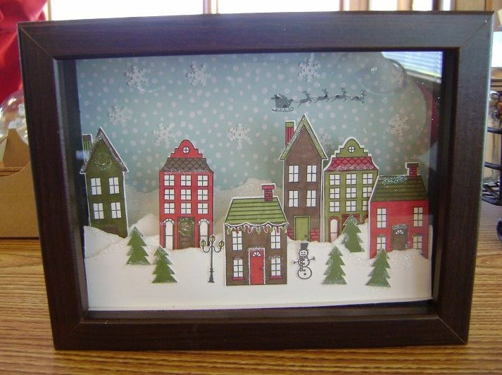 Holiday Home 3 D Framed Art Stampin Studio