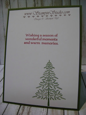for the inside of the card i stuck with the perfect pines stamp set and just made sure my images didnt show through the front when the card was closed - Christmas Card Closings