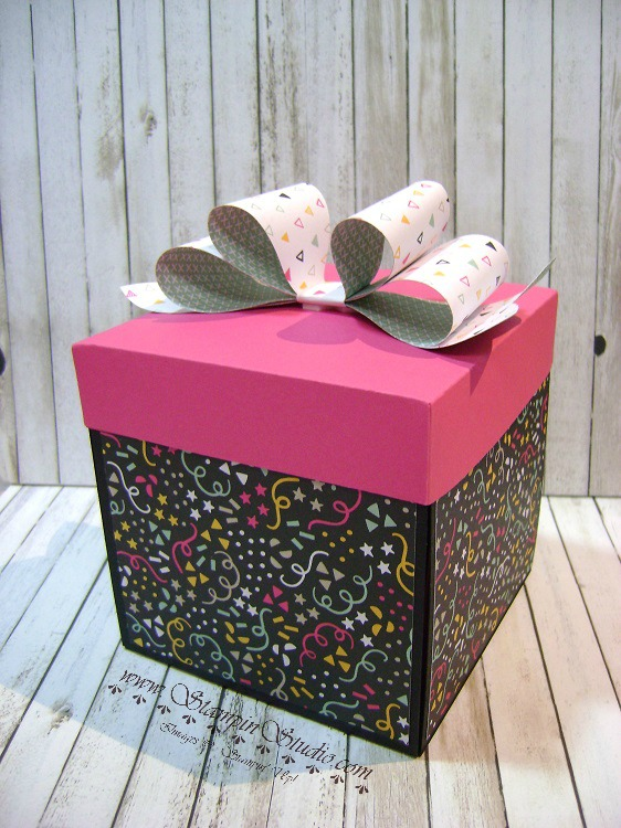 Birthday Present Scrapbook Box Stampin Studio