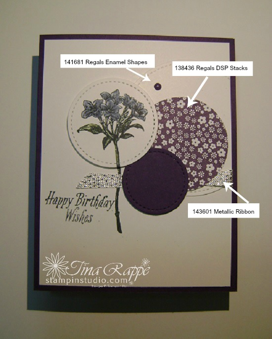 Stampin' Up! Avant Garden stamp set, Sale-a-bration 2017, Metallic Ribbon Combo Pack, Stampin' Studio