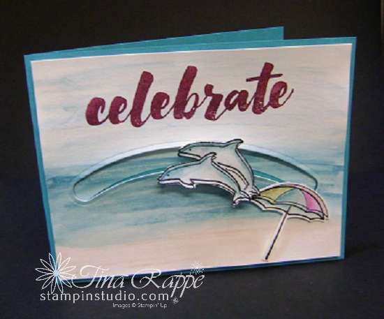 Stampin' Up! Day at the Beach Stamp Set, Sliding Star Framelits, Spinner Card, Stampin' Studio