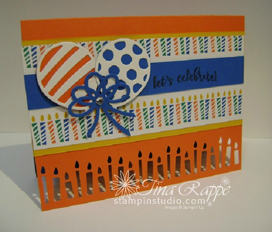 Stampin' Up! Balloon Adventures stamp set, Balloon Pop-Up Thinlits Dies, Candle Builder Punch, Stampin' Studio