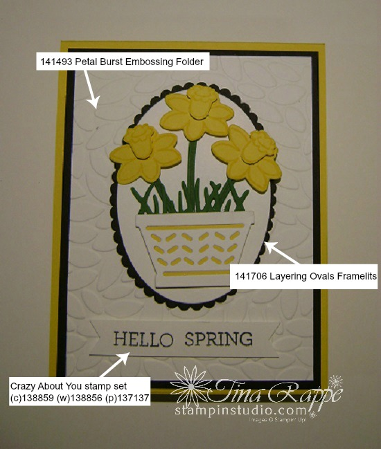 Stampin' Up! Basket Bunch stamp set, Basket Builder Framelits,Spring Card, Stampin' Studio