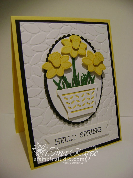 Stampin' Up! Basket Bunch Bundle, Spring Card, Stampin' Studio