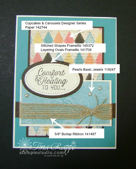 Stampin' Up! Flourishing Phrases stamp set, Get Well Card, Stampin' Up!