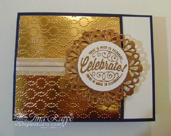 Copper Embossed Metallic Doilies