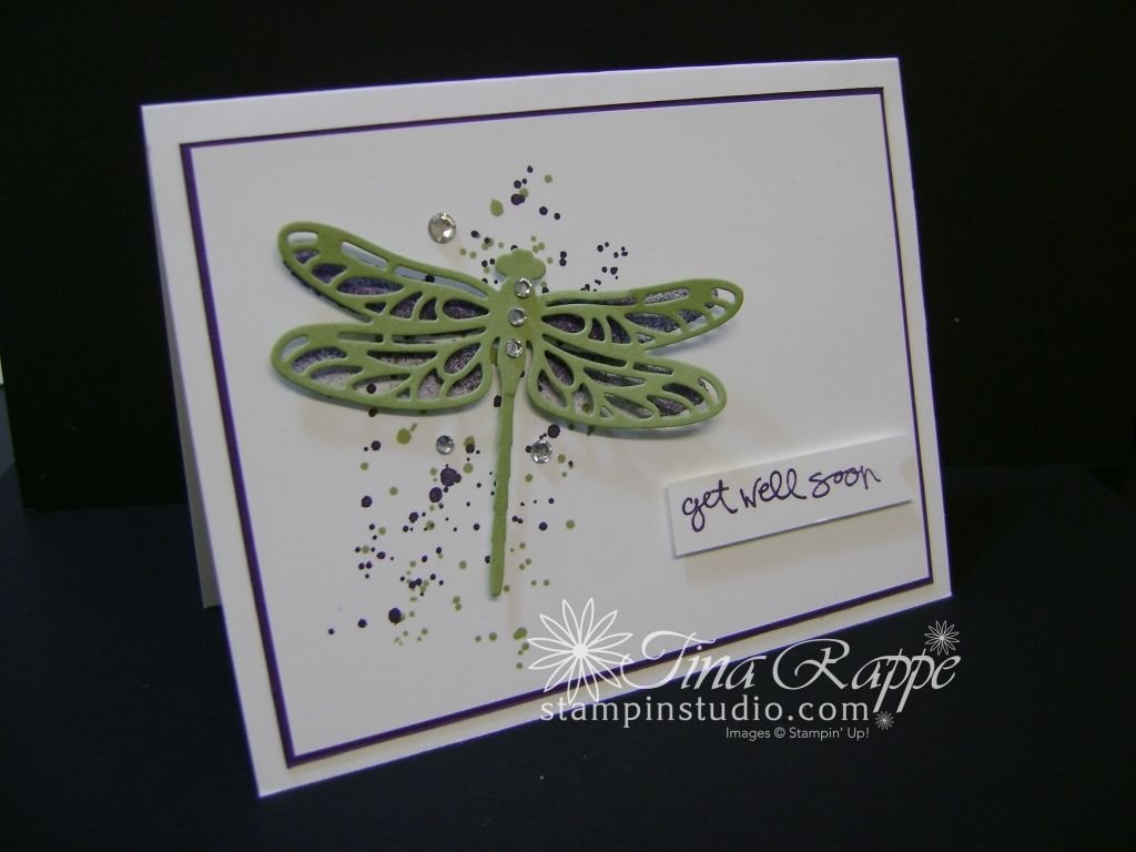 Stampin' Up! Dragonfly Dreams Bundle, Gorgeous Grunge, Get Well, Stampin' Studio