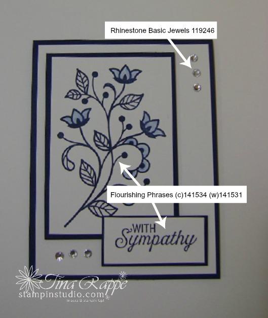 Stampin' Up! Flourishing Phrases stamp set, Sympathy Card, Stampin' Studio
