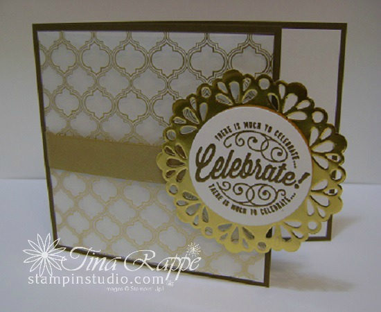 Stampin' Up! Here's to Cheers stamp set, Fabulous Foil Designer Acetate, Stampin' Studio