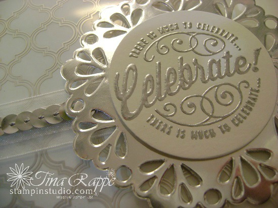 Stampin' Up! Here's to the Cheer stamp set, Fabulous Foil Designer Acetate, Stampin' Studio