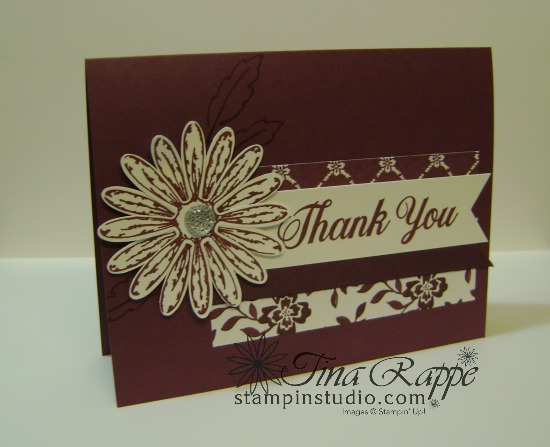 Stampin' Up! Daisy Delight stamp set, Daisy Punch, Fresh Fig In Color, Stampin' Studio