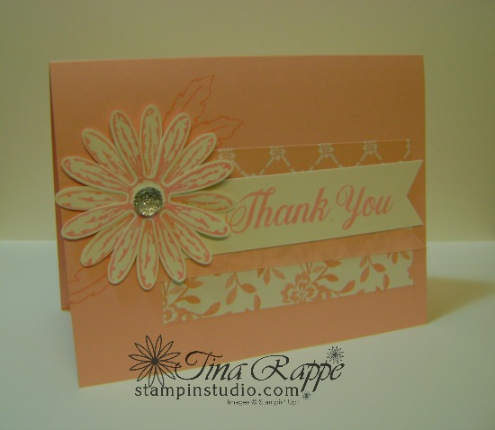 Stampin' Up! Daisy Delight stamp set, Daisy Punch, Powder Pink In Color, Stampin' Studio