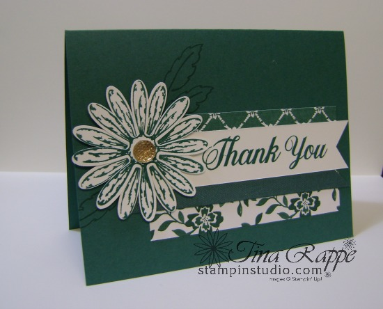 Stampin' Up! Daisy Delight stamp set, Daisy Punch, Tranquil Tide In Color, Stampin' Studio