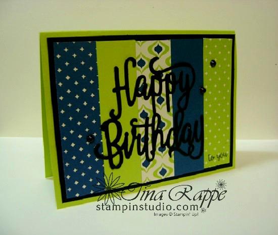 Stampin' Up! Happy Birthday Thinlits, Stampin' Studio