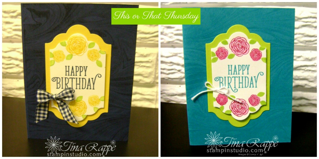 Stampin' Up! Happy Birthday Gorgeous stamp set, Lots of Labels Framelits, Stampin' Studio