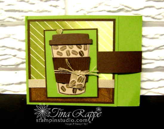 Stampin' Up! Coffee Cafe stamp set, Coffe Cups Frame;its, Coffee Break Suite, Stampin' Studio