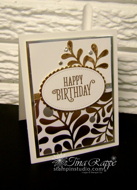 Stampin' Up! Happy Birthday Gorgeous stamp set, Year of Cheer Specialty Designer Series Paper, Stampin' Studio