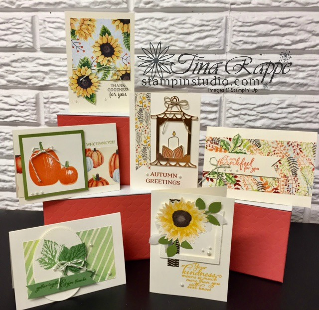 Stampin' Up! Painted Autumn Note Card set, Stampin' Studio