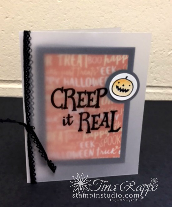 Stampin' Up! Creep it real stamp set, Halloween card, Stampin' Studio