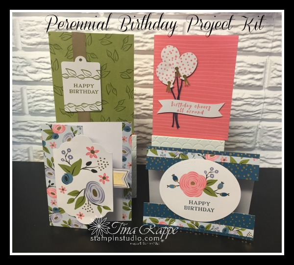 12 Different Ideas Using The Perennial Birthday Card Kit Stampin