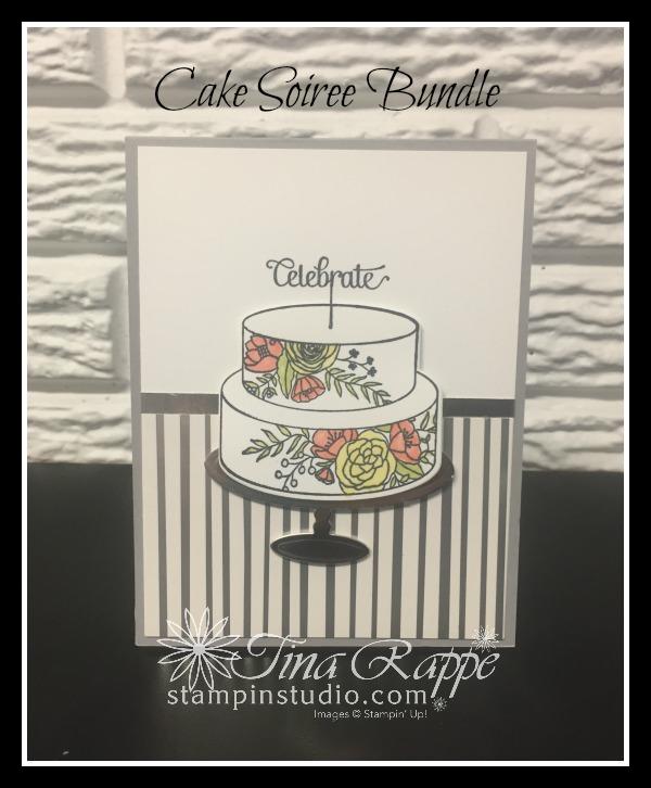 Stampin' Up! Cake Soiree stamp set, Sweet Cake Framelits, Cake Soiree Bundle, Springtime Foils DSP, Stampin' Studio