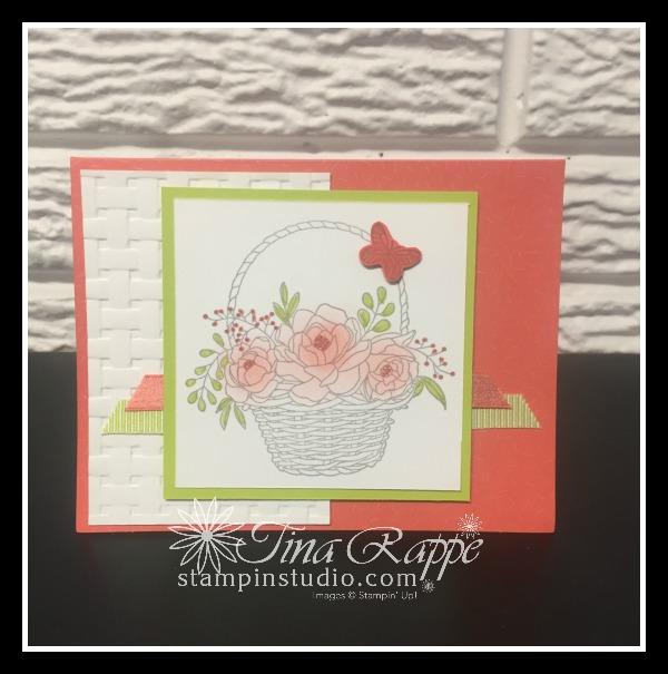 Stampin' Up! Blossoming Basket Bundle & Tuiiti-Fruitti Cards & Envelopes, Sale-a-bration 2018, Stampin' Studio