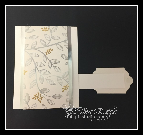 Stampin' Up!Springtime Foils Designer Series paper, Heartfelt Blooms stamp set, Fun Fold, Stampin' Studio