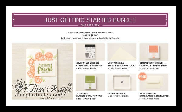 Stampin' Up! Just Getting Started Bundle, Share What You Love Suite, Stampin' Studio