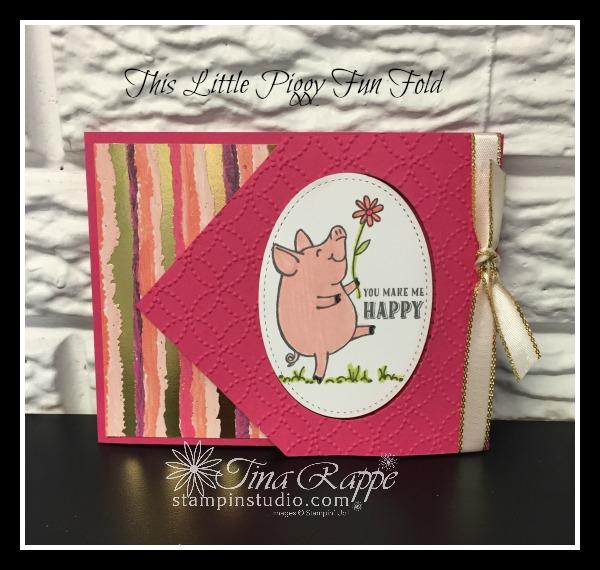 Stampin' Up! This Little Piggy stamp set, Fun Fold, Stampin' Studio