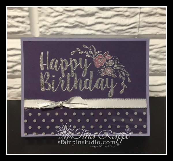 Stampin' Up! Big on Birthdays stamp set, Bleach Emboss Technique, Stampin' Studio