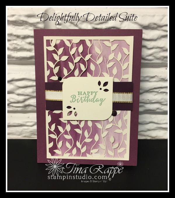 Stampin' Up! delightfully Detailed Suite, Stampin' Studio