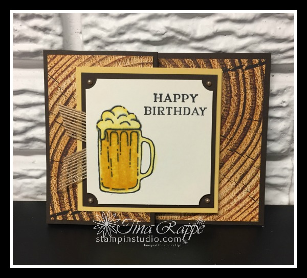 Stampin' Up! Mixed Drinks stamp set, Double Z-Fold, Stampin' Studio