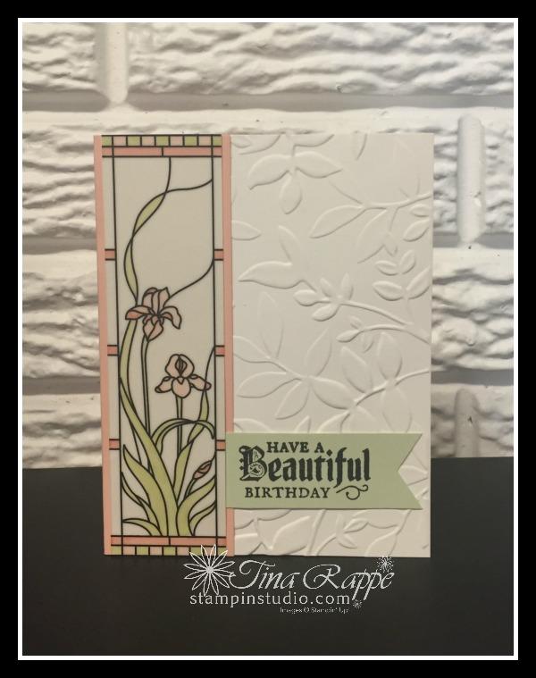Stampin' Up! Graceful Glass Designer Vellum, Painted Glass stamp set, Stampin' Studio