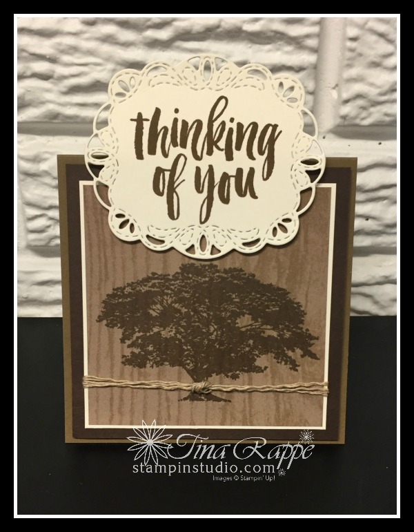 Stampin' Up! Rooted in Nature stamp set, Stitched Labels Framelits, Stampin' Studio