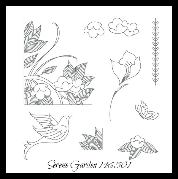 Stampin' Up! Serene Garden stamp set, Stampin' Studio