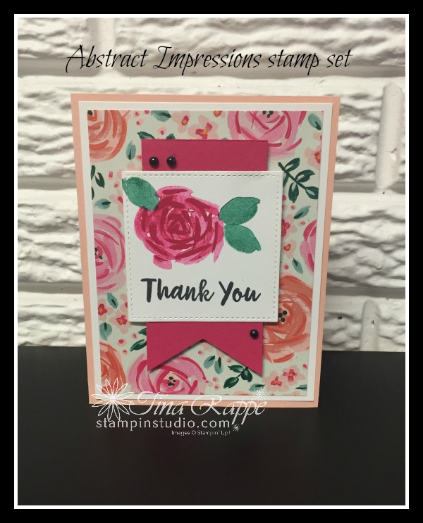 Stampin' Up! Abstract Impressions stamp set, Garden Impressions DSP, Stampin' Studio