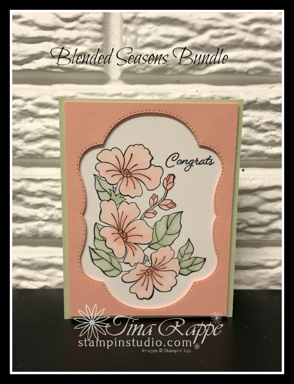 Stampin' Up! Blended Seasons stamp set, Stitched Seasons Framelits, Watercolor Pencils, Stampin' Studio