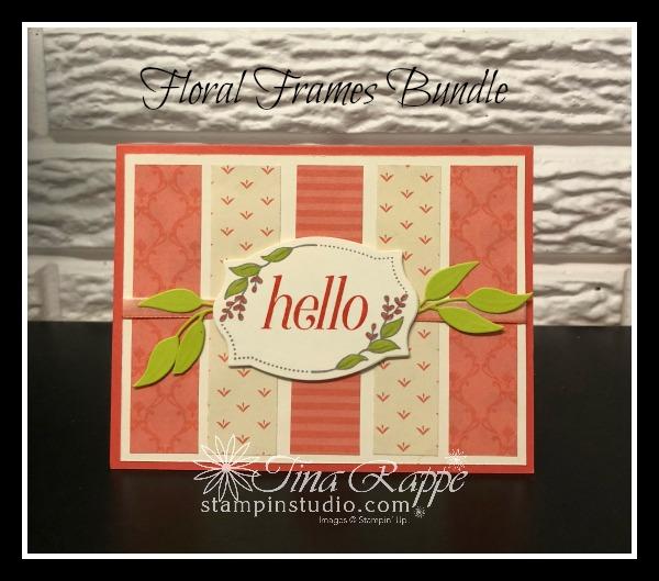 Stampin' Up! Floral Frames Bundle, Floral Frames stamp set, Foliage Frame Framelits, Stampin' Studio