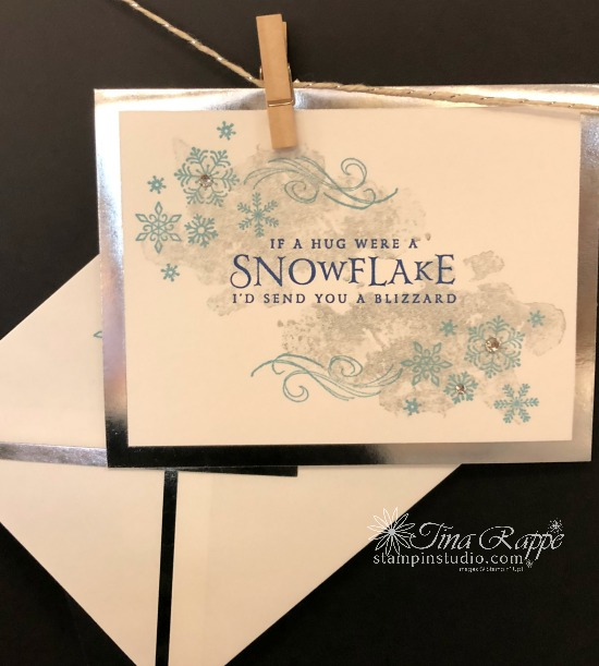 Stampin' Up! Beautiful Blizzard Bundle, Stampin' Sisters Holiday Hoopla, Stampin' Studio