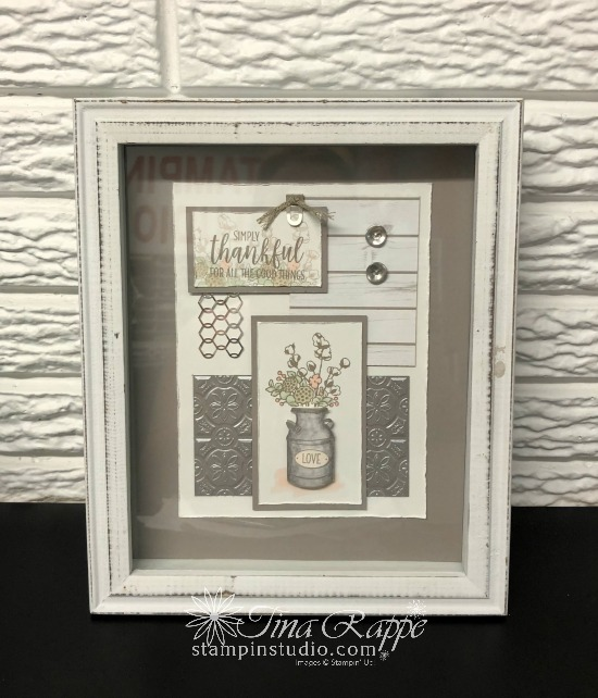 Stampin' Up! Country Home stamp set, Framed Art, Stampin' Sisters Holiday Hoopla, Stampin' Studio