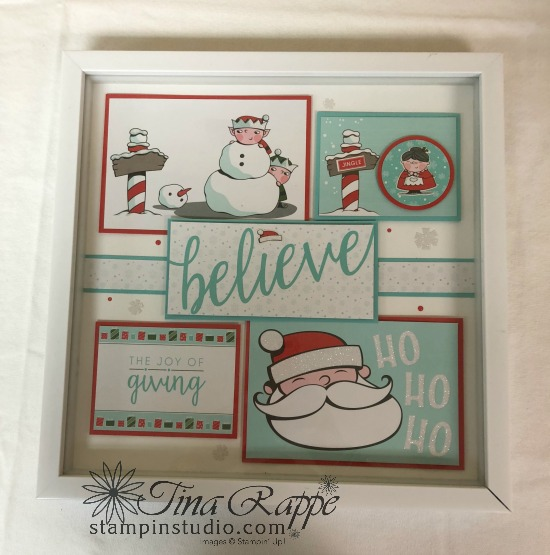 Stampin' Up! Santa's Workshop Suite, Framed Art, Stampin Sisters Holiday Hoopla, Stampin' Studio
