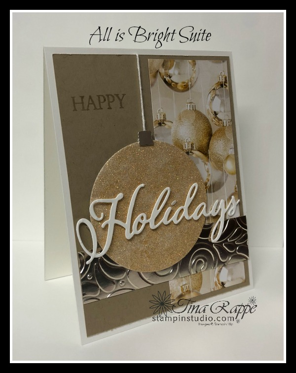 Stampin' Up! All is Bright Suite, Shimmer Paint, Stampin' Studio