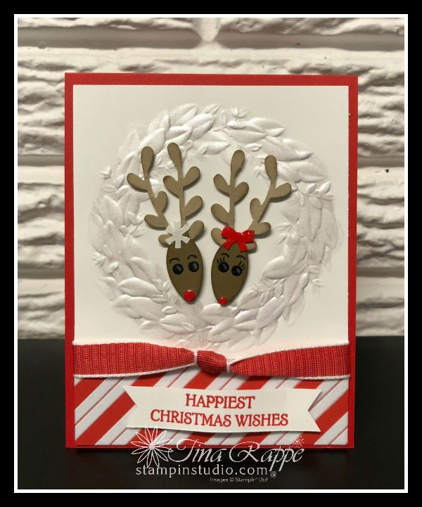 Stampin' Up! Christmas Bulb Builder Punch, Sprig Punch, Shimmer Paint, Stampin' Studio