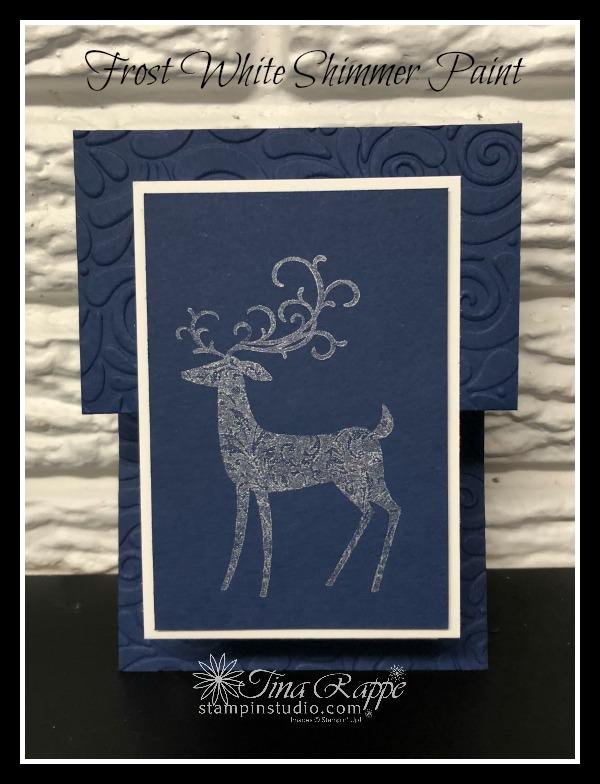 Stampin' Up!, Dashing Deer stamp set, Shimmer Paint, Stampin' Studio
