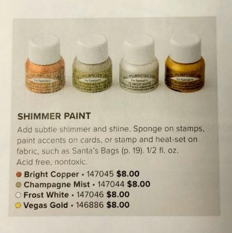 Stampin' Up! Shimmer Paint, Stampin' Studio