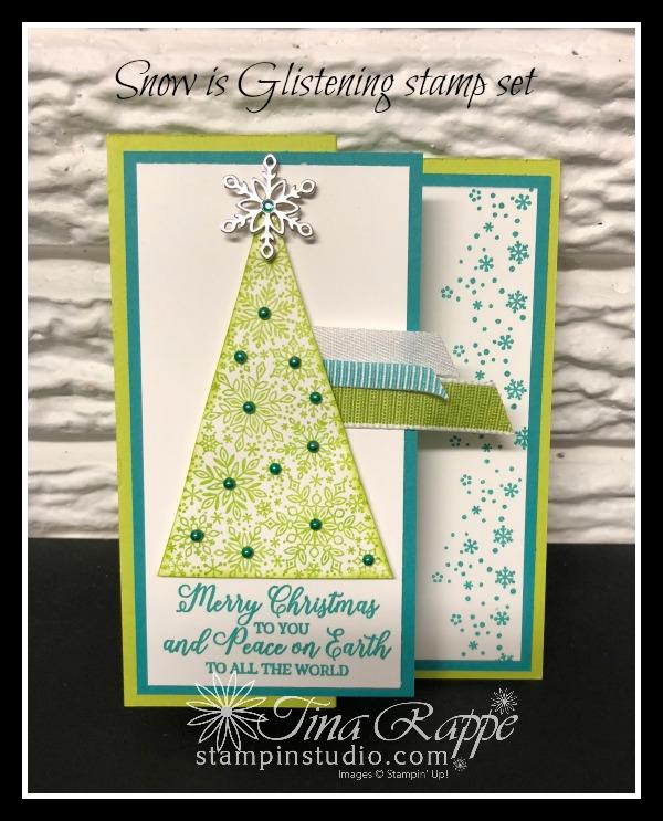Stampin' Up! Snow is Glistening stamp set, Snowflake Trinkets, Stampin' Studio