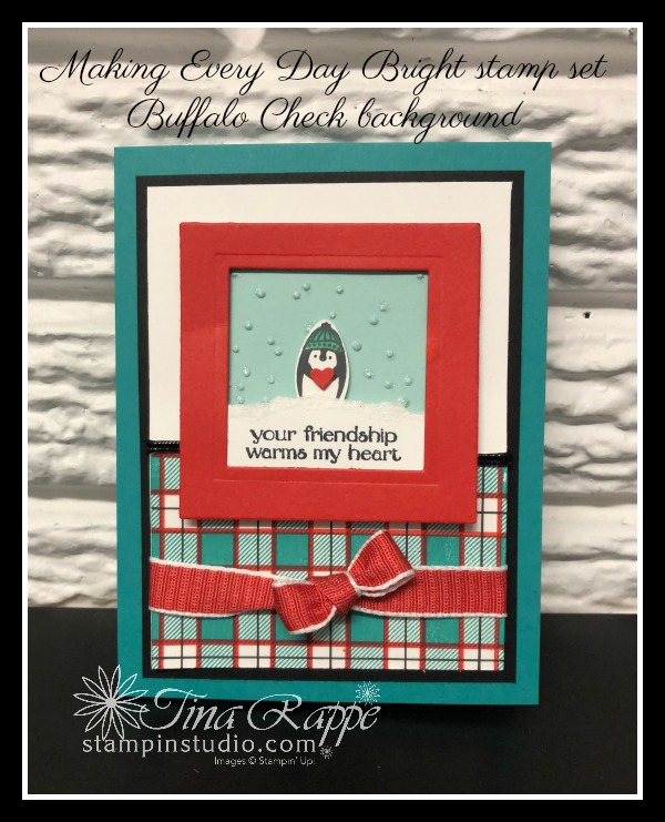 Stampin' Up! Buffalo Checks, Making Every Day Bight stamp set, Christmas Bulb Builder, Stampin' Studio