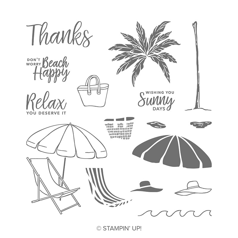 Stampin' Up! Beach Happy stamp set, Stampin' Studio