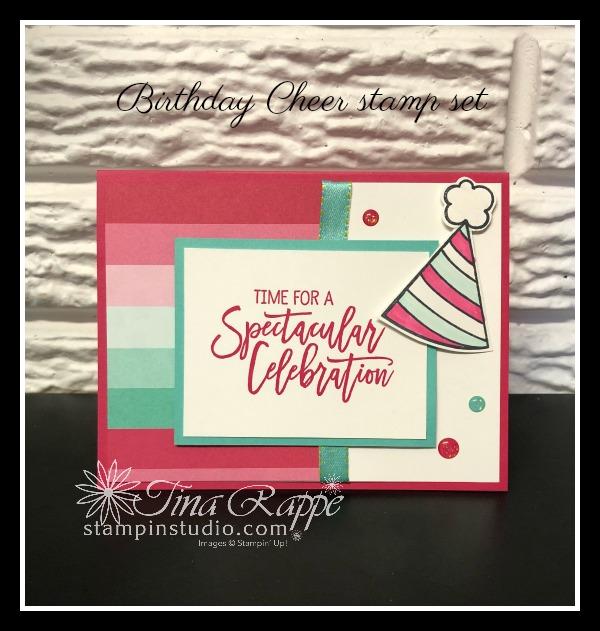 Stampin' Up! Birthday Cheer stamp set, Stampin' Studio